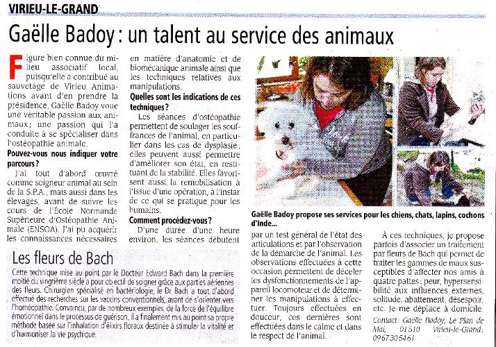 Gaêlle Badoy : un talent au service des animaux.